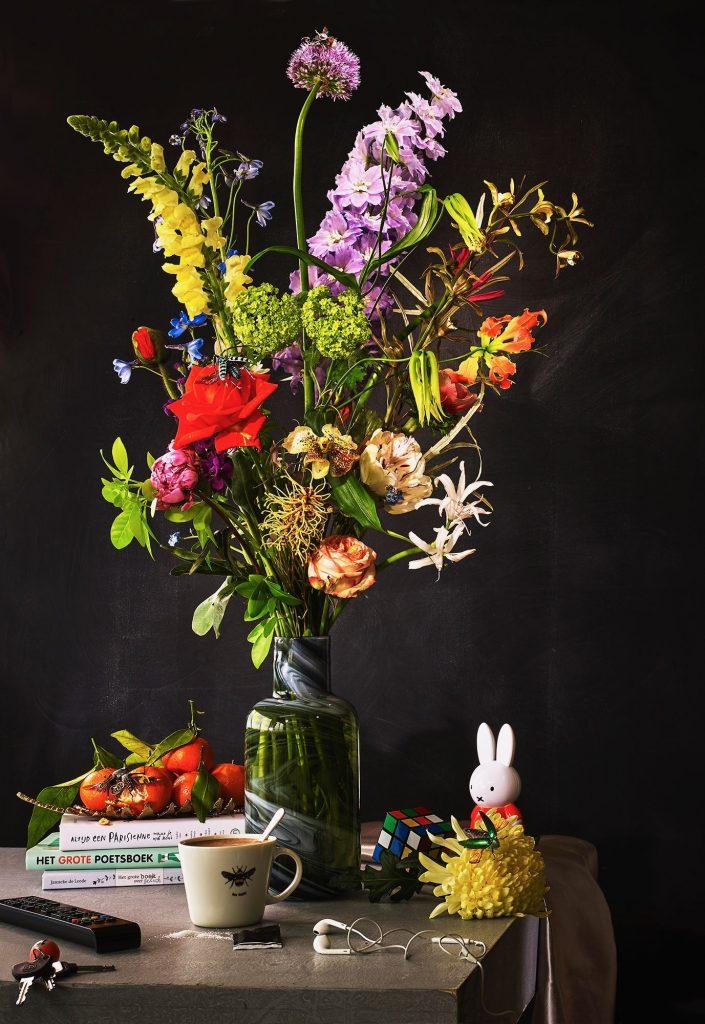 Boeket met bloemen thema dagelijks leven