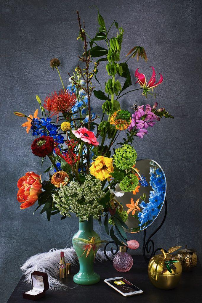 Boeket met bloemen thema ijdelheid