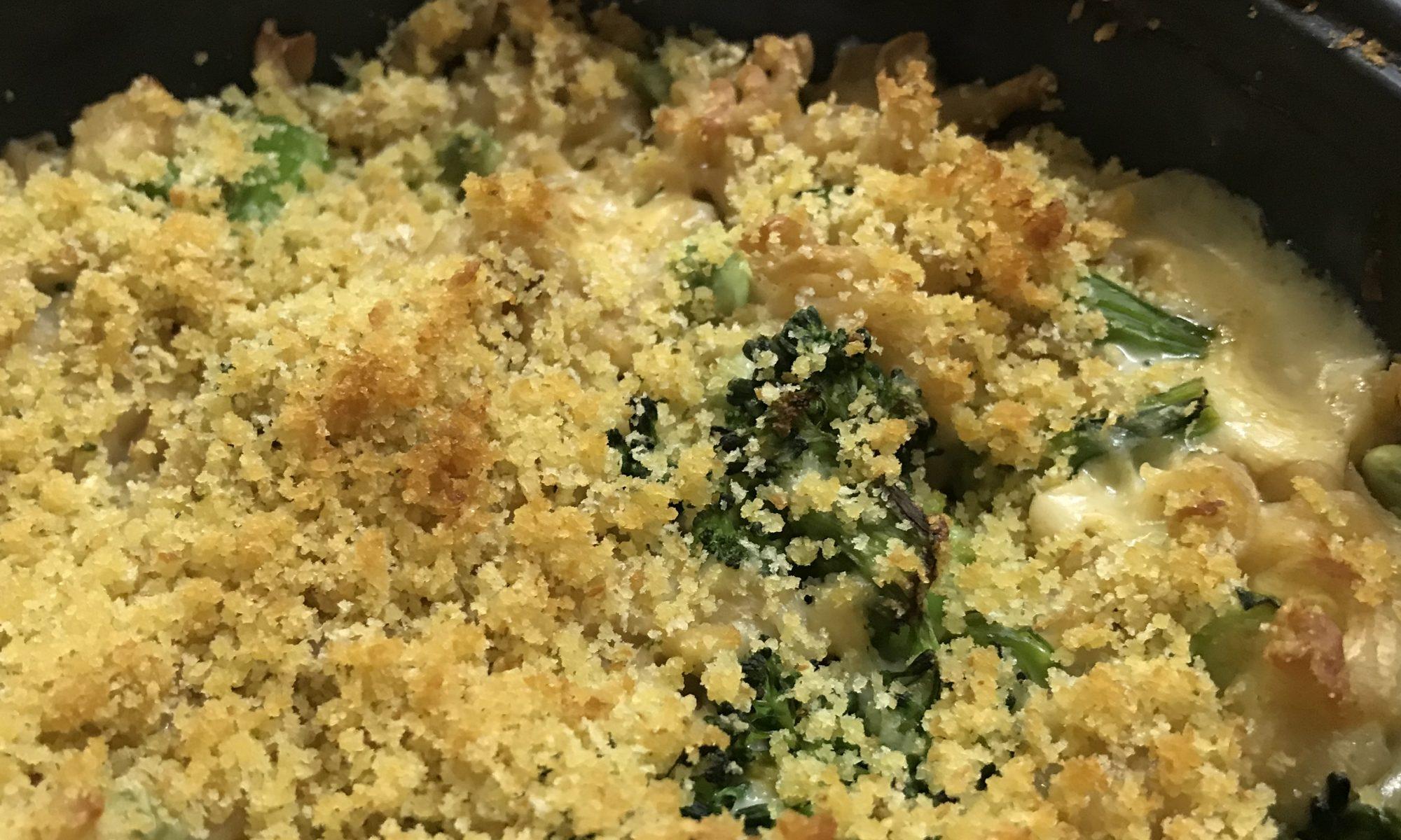 Nudelauflauf Gemüse Käse Bechamel