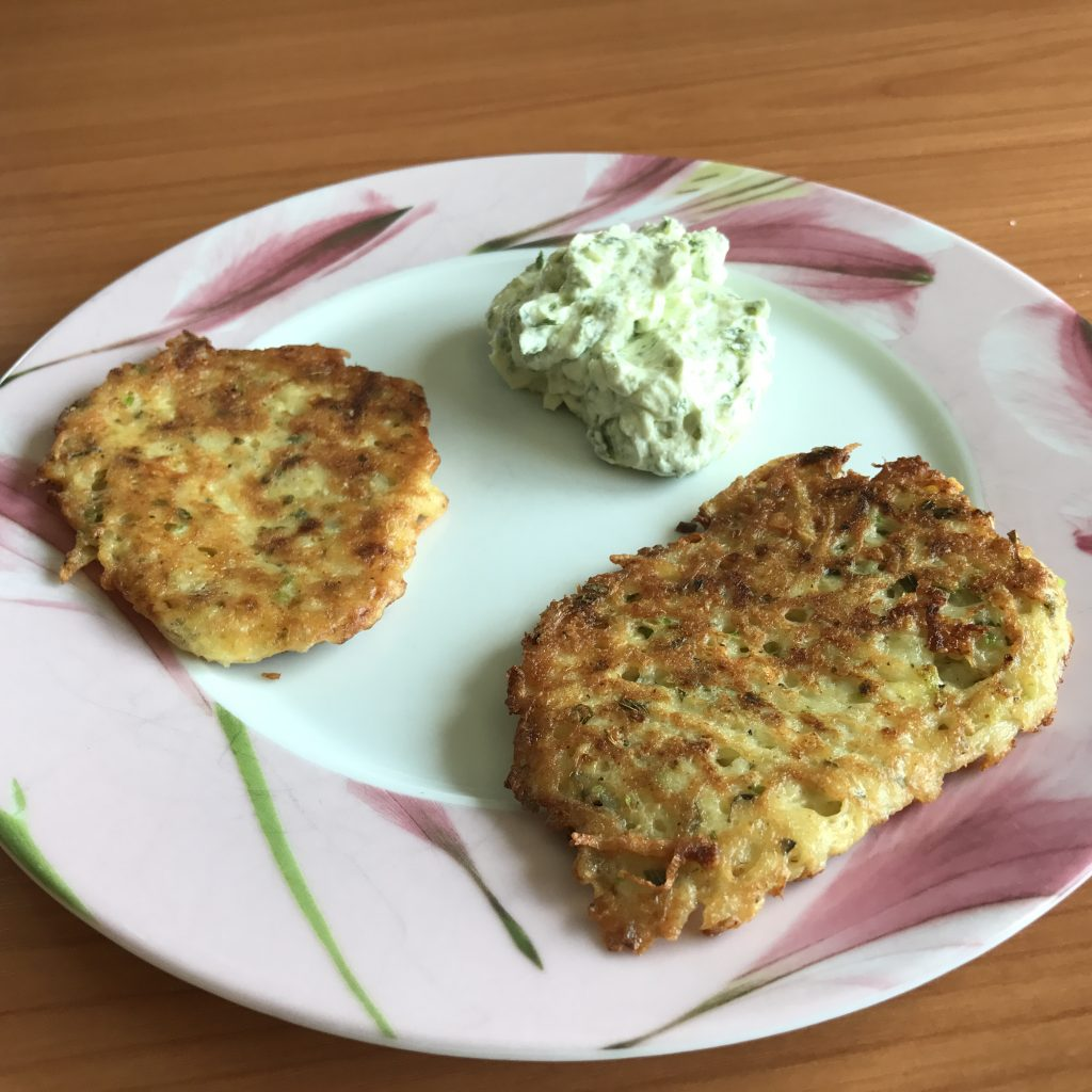 Zucchini Kartoffel Bratlinge