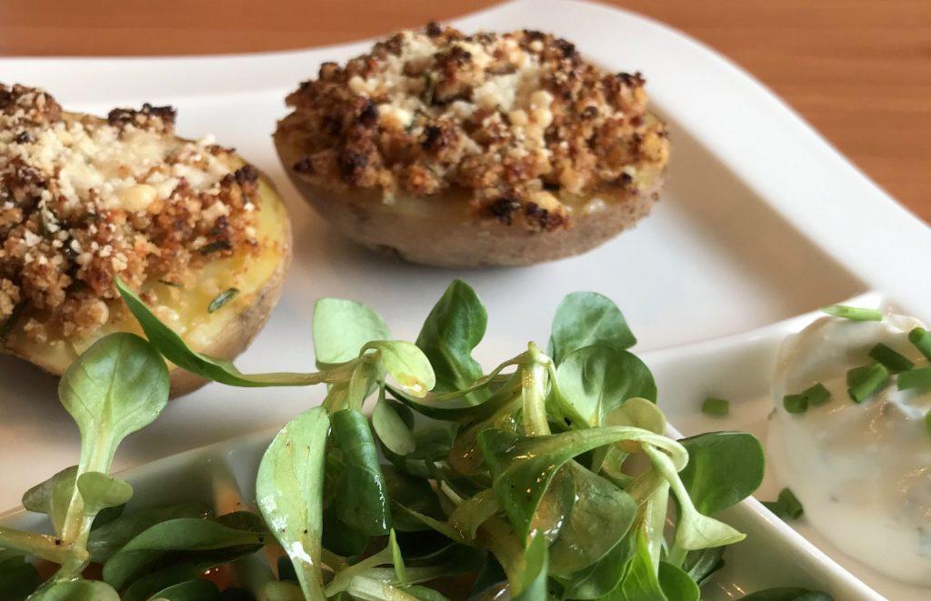 Ofenkartoffeln mit Rosmarin-Senf-Kruste