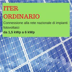 iter ordinario per impianti da 3 kWp a 6 kWp BGENERGIA