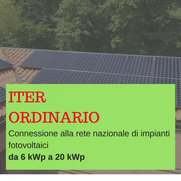 Pratica iter ordinario da 6kWp a 20 kWp BGENERGIA
