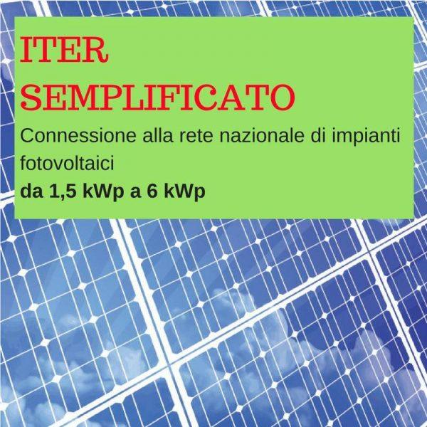 Iter semplificato fotovoltaico da 1,5 kWp a 6 kWp