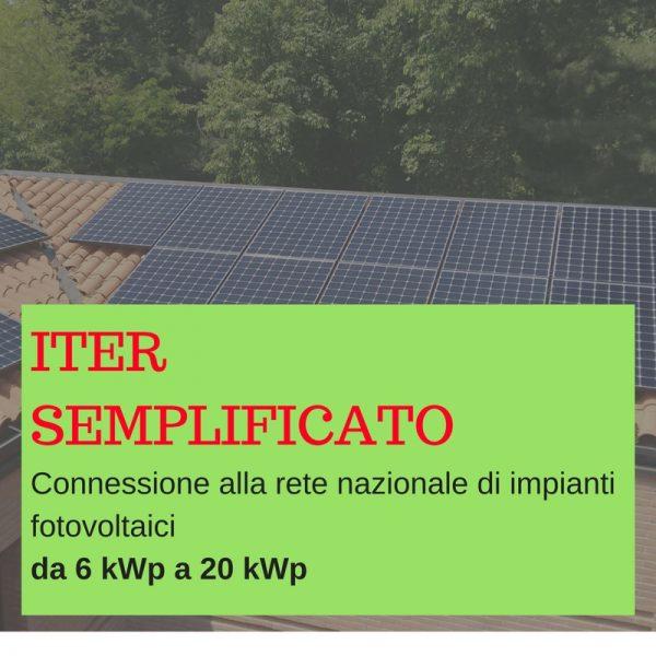 connessione semplificata impianti da 3 kWp a 20 kWp