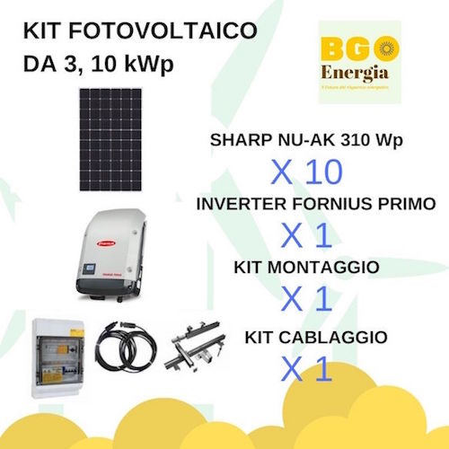 BGEnergia KIT fotovoltaico SHARP_FRONIUS