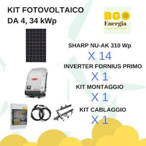 BGEnergia KIT SHARP_FRONIUS DA 4,34 kWp