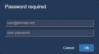 Jitsi Meet dialogue prompting for username and password