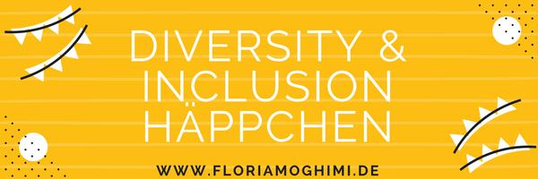 Gelber Banner für den Newsletter mit Text: Diversity & Inclusion Häppchen