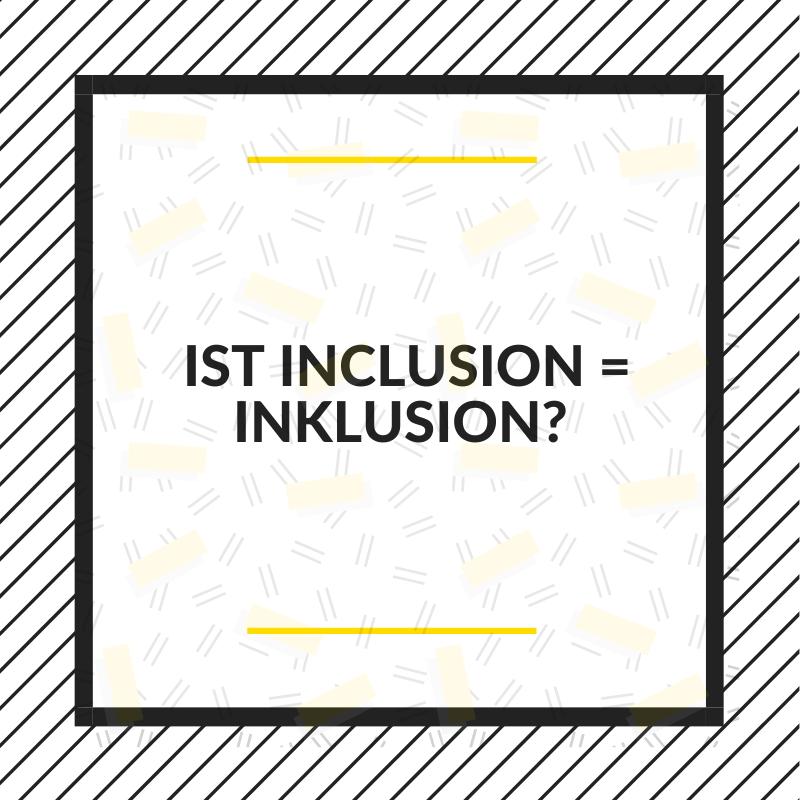 Ist Inclusion mit c auf deutsch gleich Inklusion mit k?