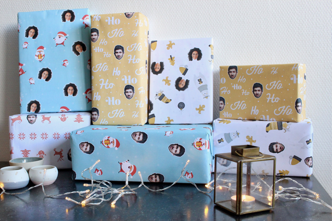 papier cadeau personnalisé