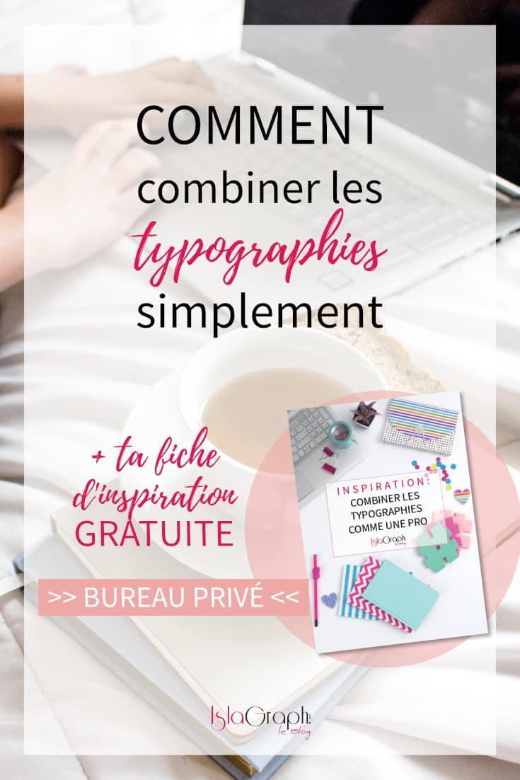 Combiner des typographies simplement c'est possible ! Je t'explique comment avec une bonus gratuit. #typographie #blogging
