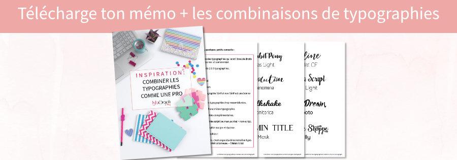 Mémo et inspiration pour combiner tes typographies comme une pro