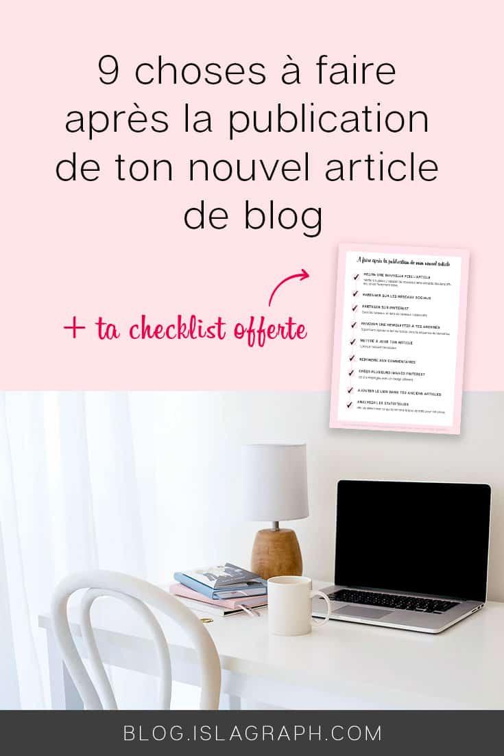 9 choses à faire après la publication de ton nouvel article de blog