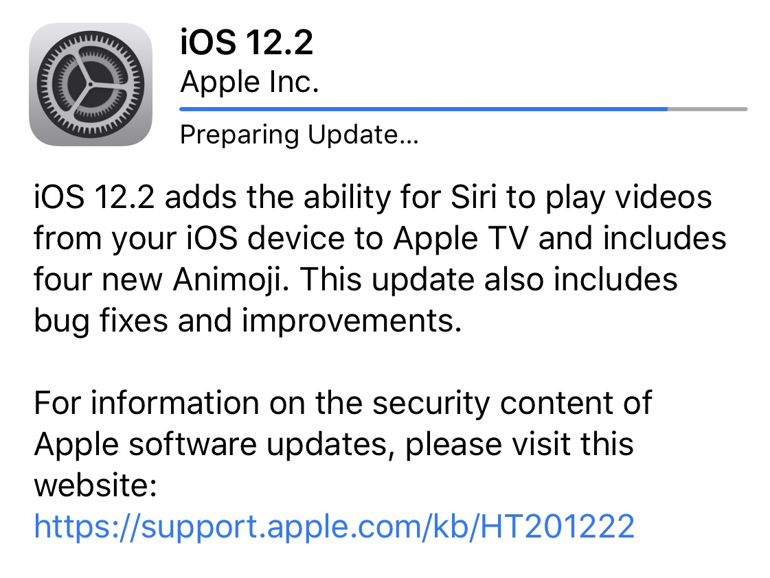 iOS 12.2 Is Now Available To Download