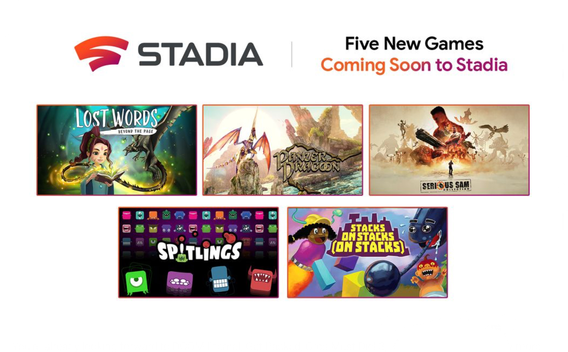 New games coming to Stadia!