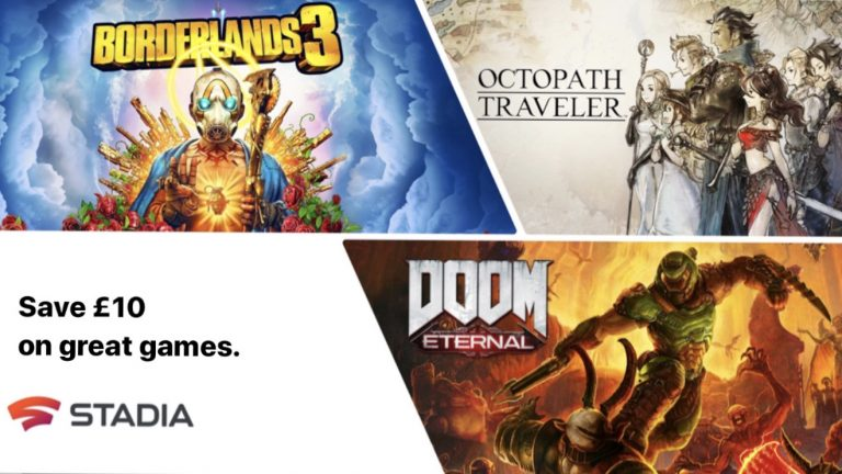 Stadia Offering £10 Off Your Next Purchase