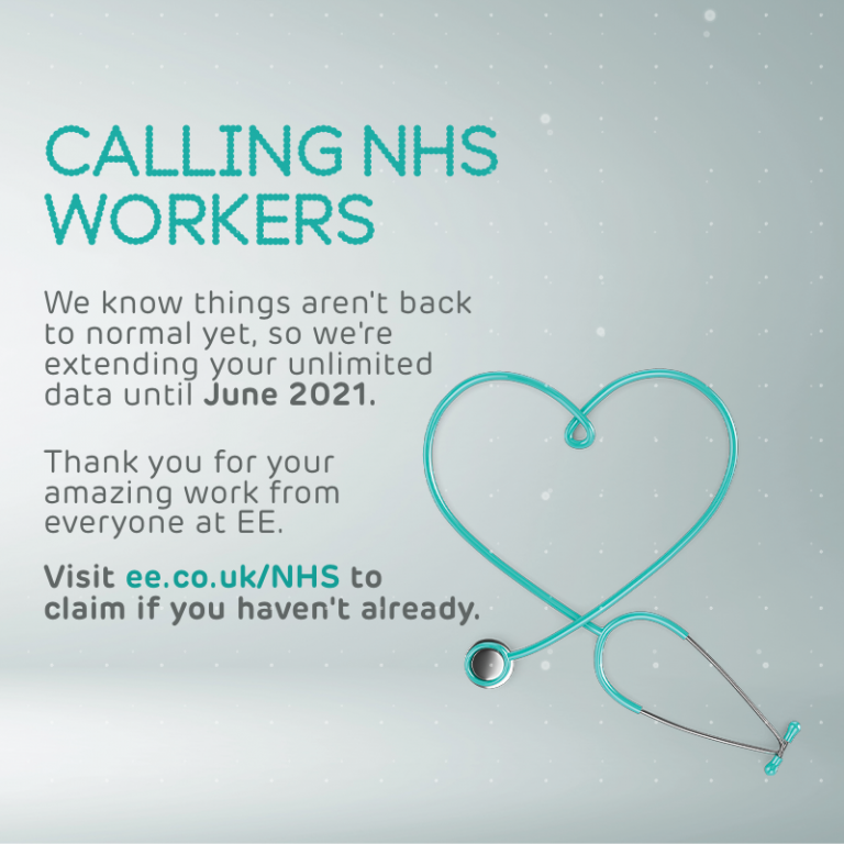 EE Extends Unlimited Data Offer To June For NHS Workers