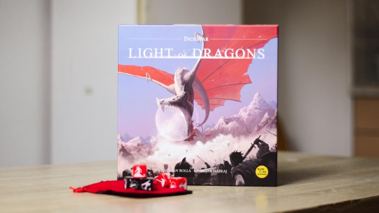 DiceWar: Light of Dragons, Luck-Free Dice Game [Review]