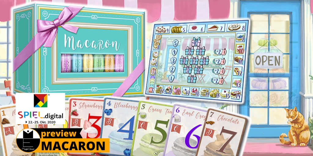 Macaron: A trick-taking game that makes you starving // SPIEL.Digital '20 [Preview]