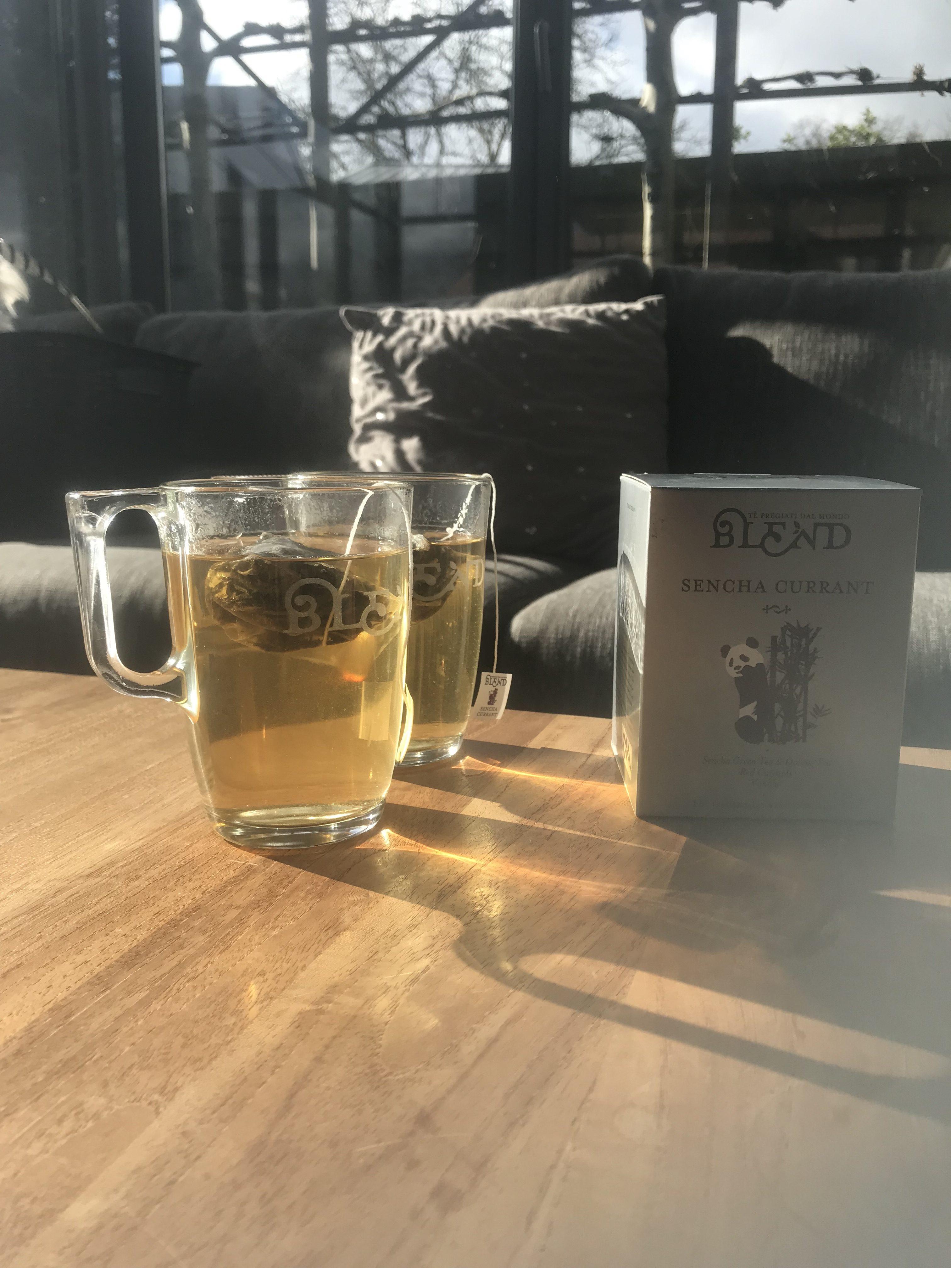 Glazen mok thee