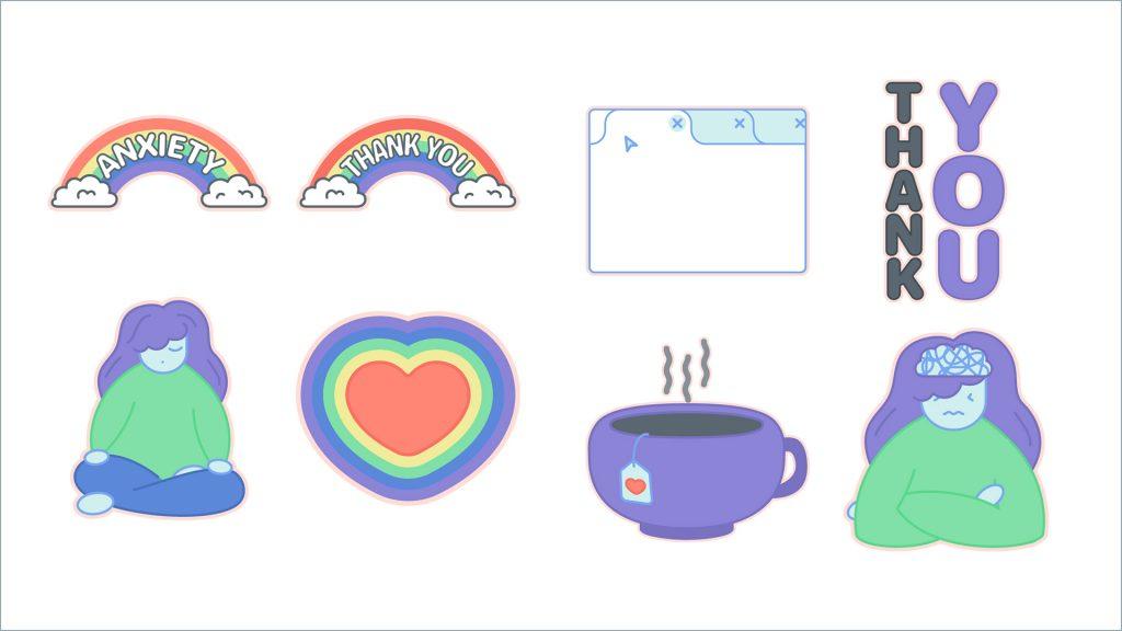 Mindfulness Sticker set