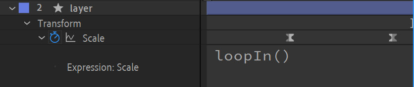 After Effects Screenshot LoopIn Expression