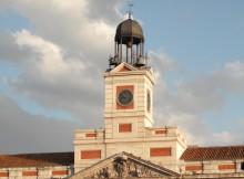 Silverster auf der Puerta del Sol in Madrid, der Kultort für Silvester in Spanien.