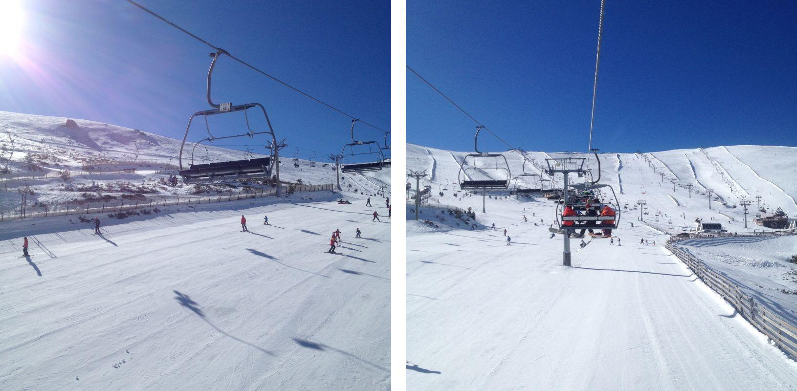 Snowboarden in Madrid: Sessellifte in Valdesqui