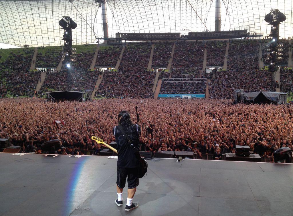 Auf der Bühne mit Metallica 2015