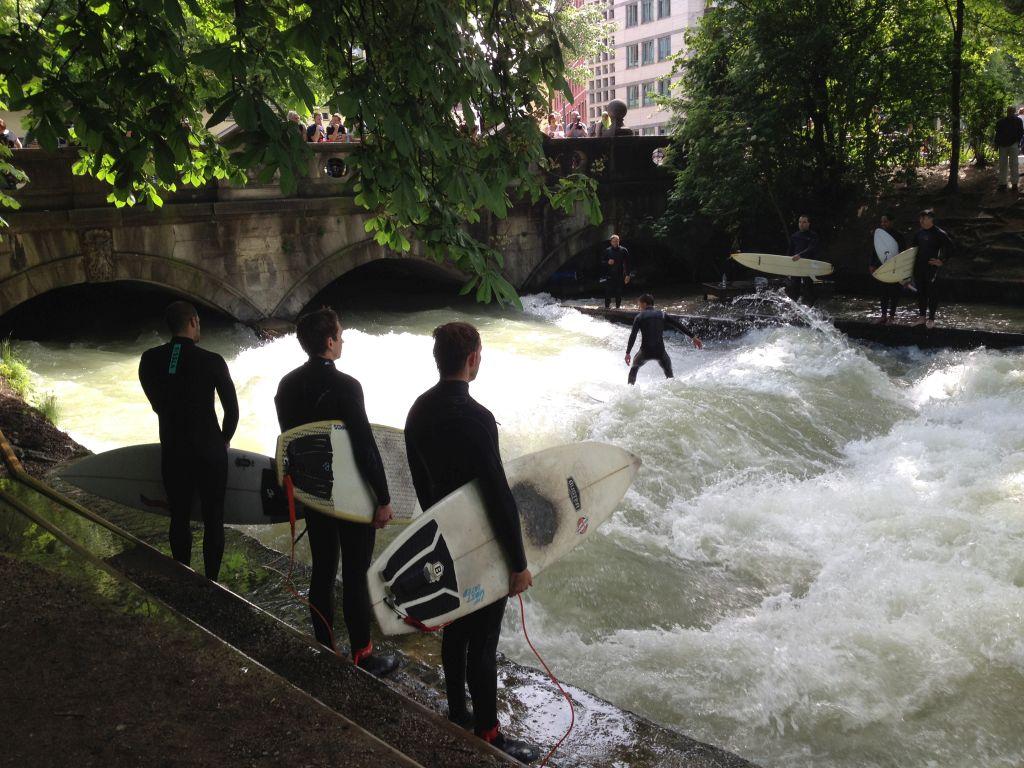 Surfer in München