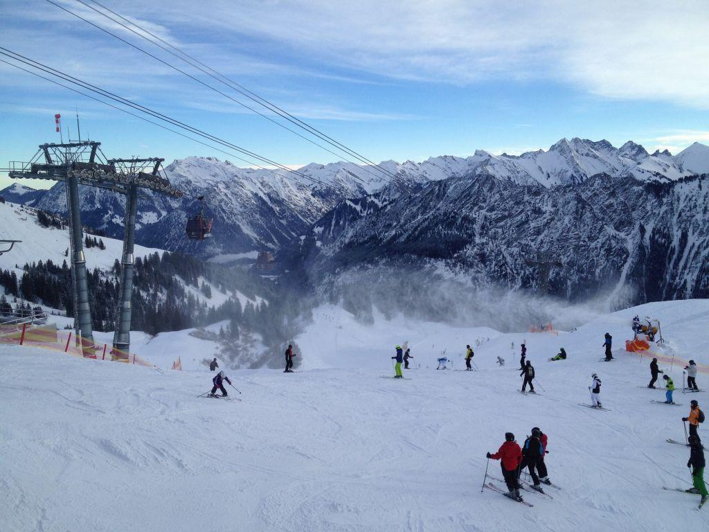 Fellhornbahn: Snowboarden im Skigebiet Fellhorn Kanzelwand