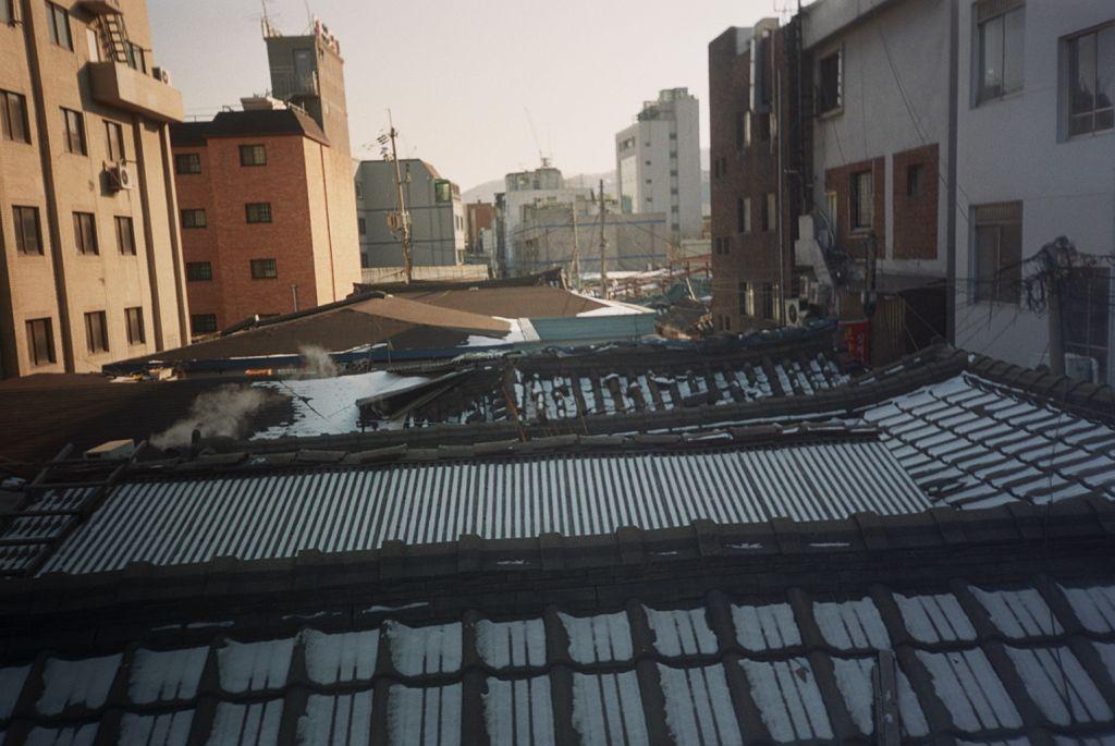 Blick aus dem Hostel in Seoul, Korea