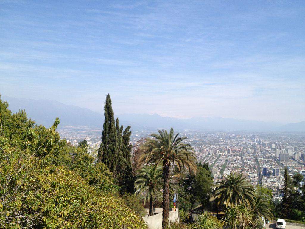 Aussicht vom Cerro San Cristóbal in Santiago de Chile