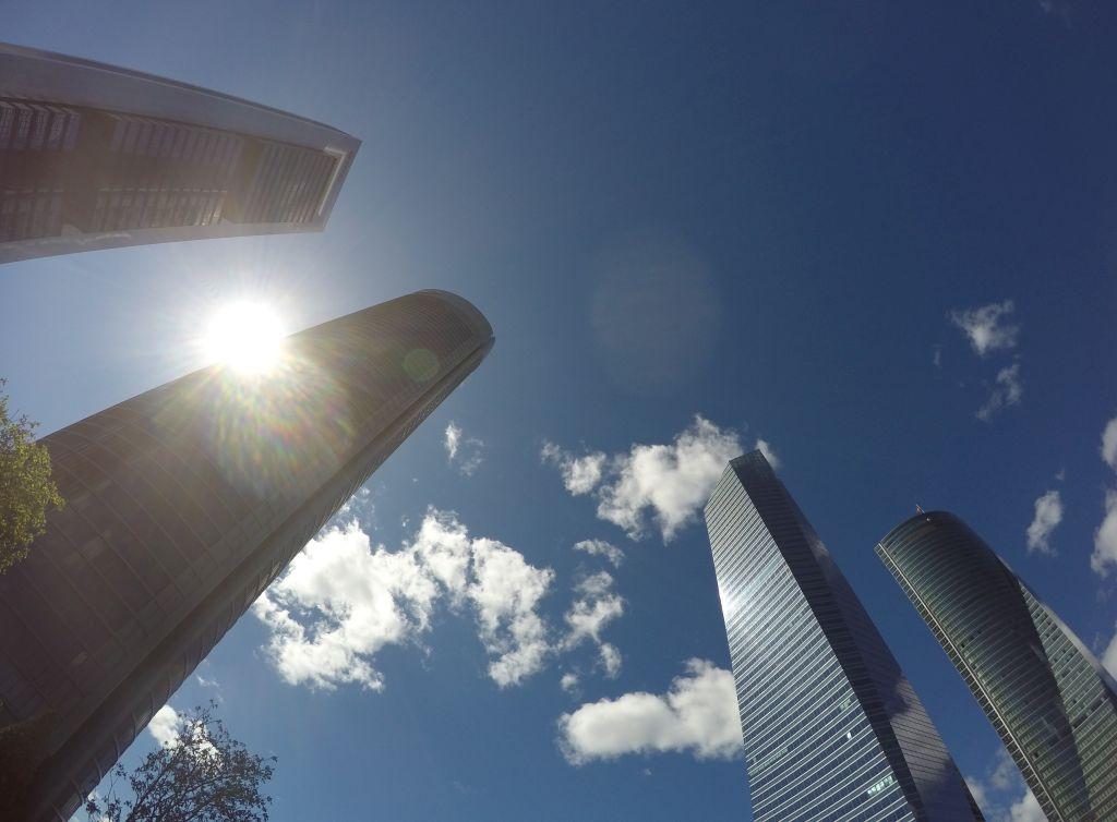 Die vier Wolkenkratzer in Madrid