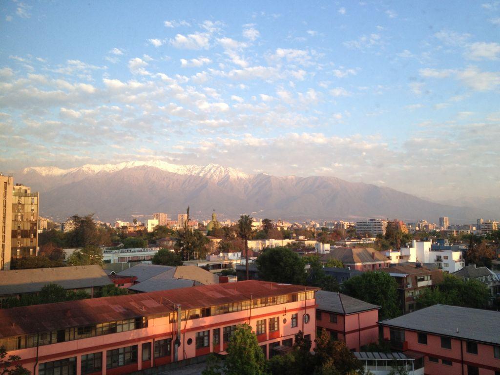 Die Anden in Santiago de Chile