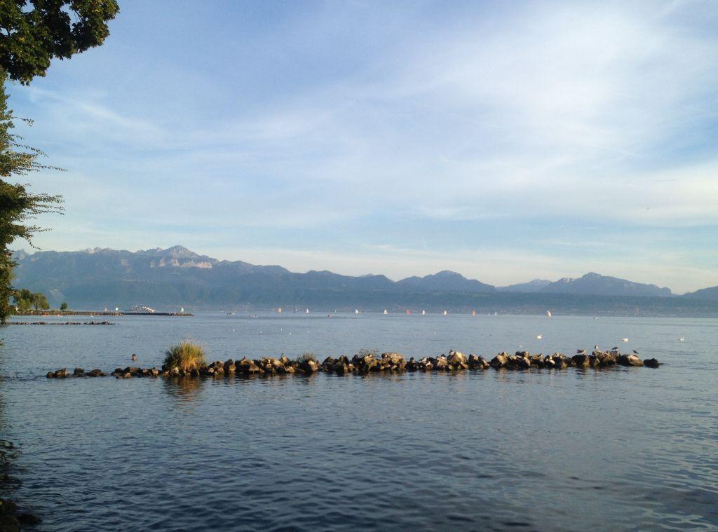 Der Genfer See in Lausanne