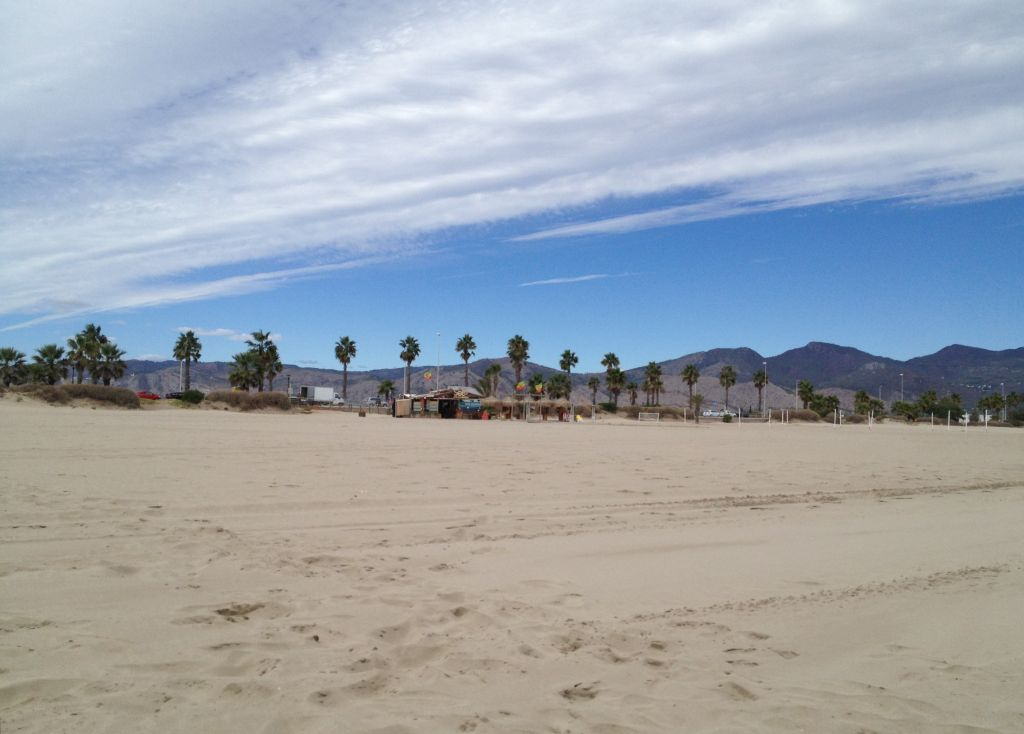Der Strand in Grao, Castellón