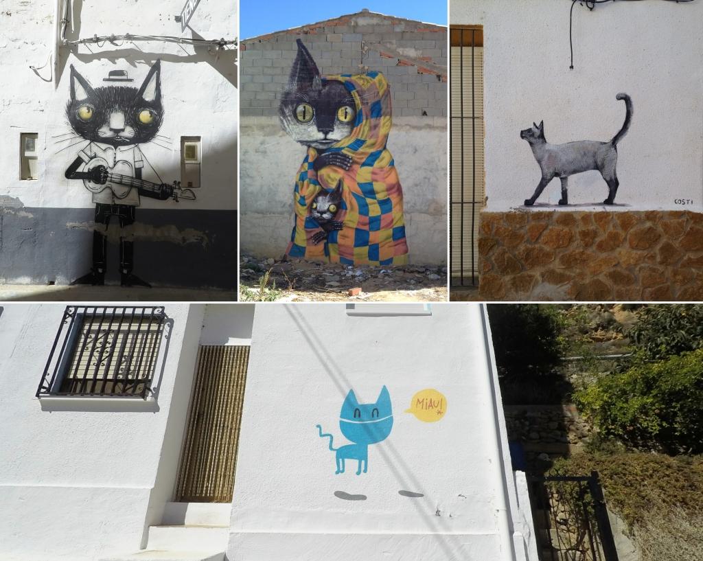 Katzengraffitis in Fanzara
