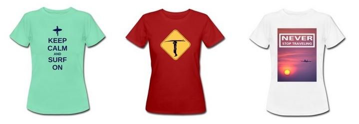 T-Shirts für Reisefans