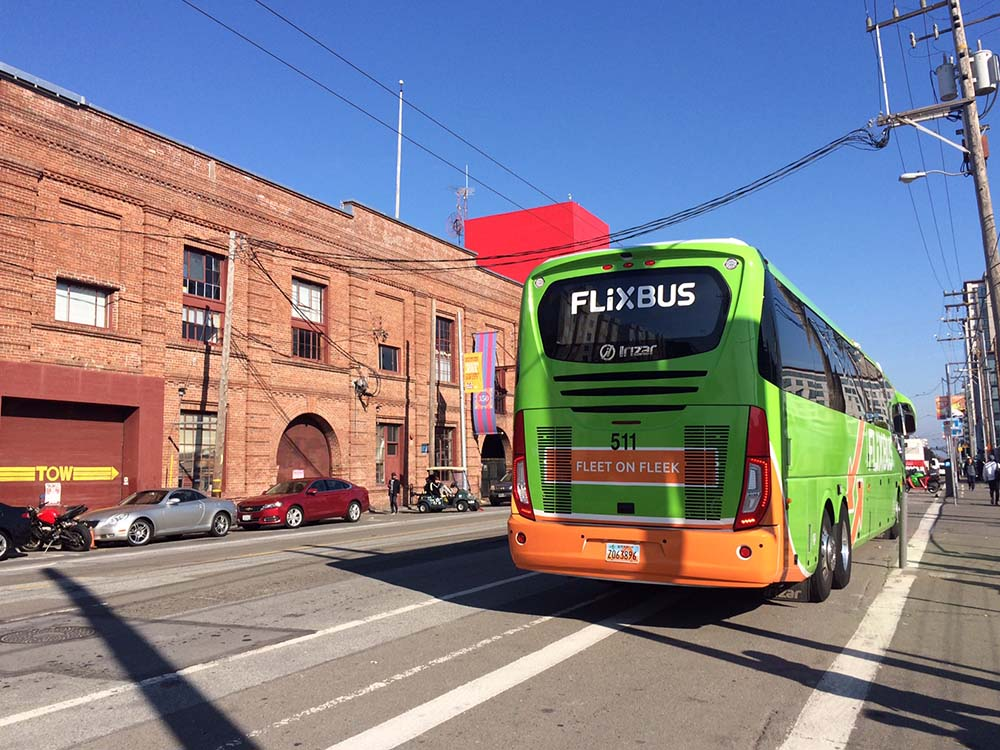 Flixbus in den USA in San Francisco