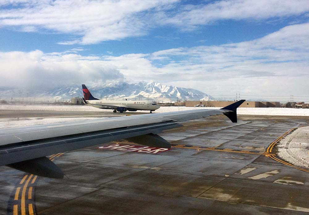 Inlandsflug in den USA von Salt Lake City nach San Francisco