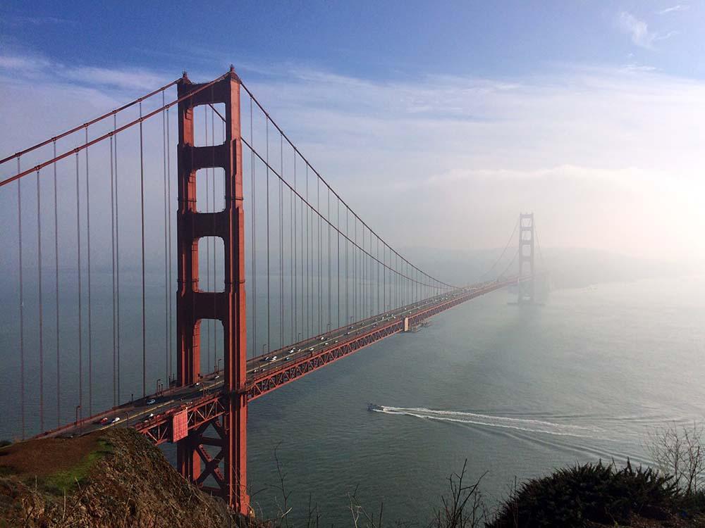 Aussicht auf die Golden Gate Bridge