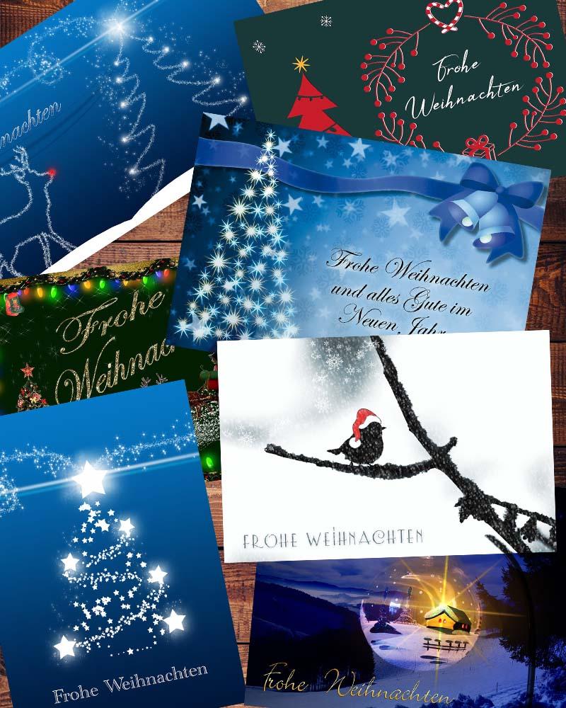 Weihnachtskarten von unterwegs verschicken