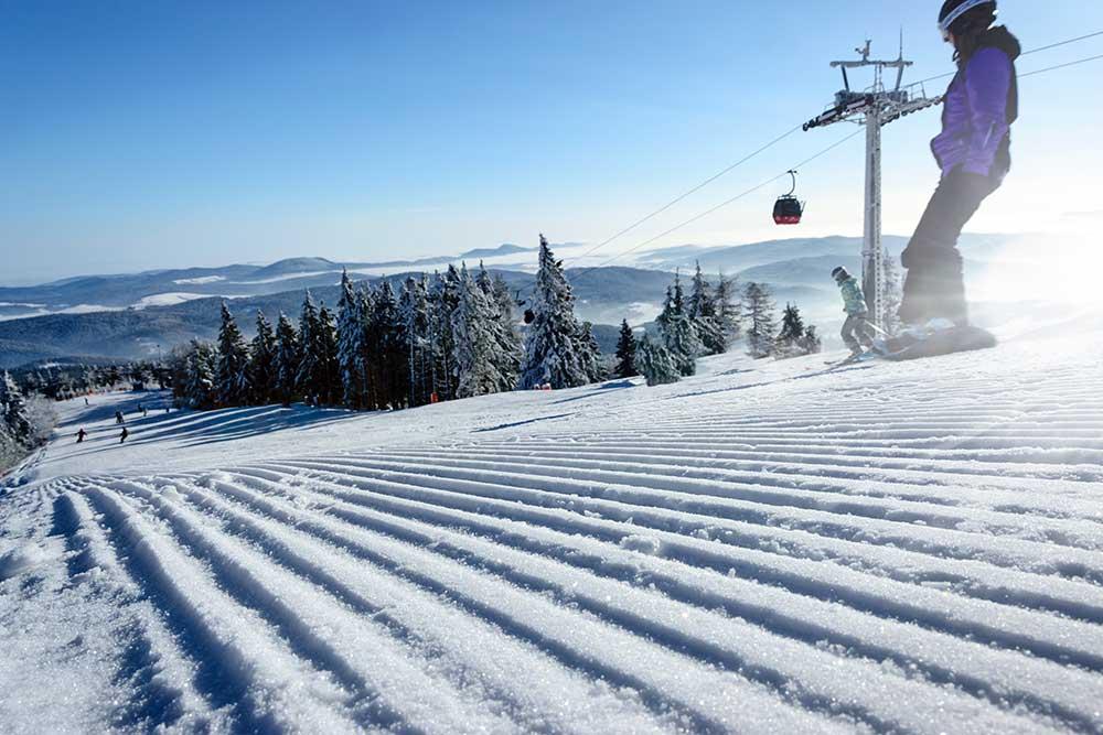 Snowboarden in Schweden