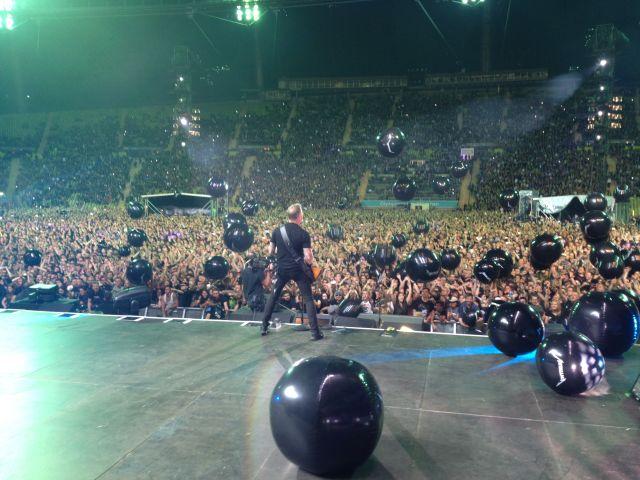 Auf der Bühne mit Metallica in München