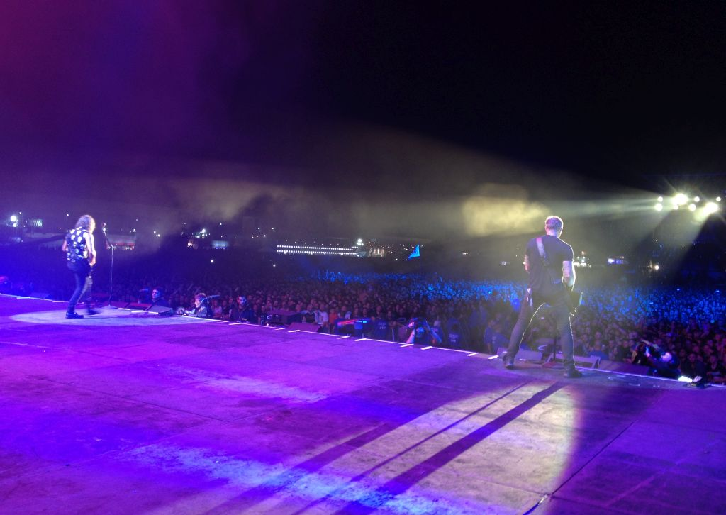 Auf der Bühne beim Reading Festival in England