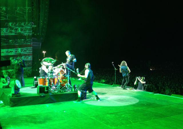 Auf der Bühne bei Rock in Vienna