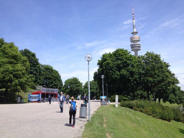 Olympiapark in München während des Rockavaria Festivals