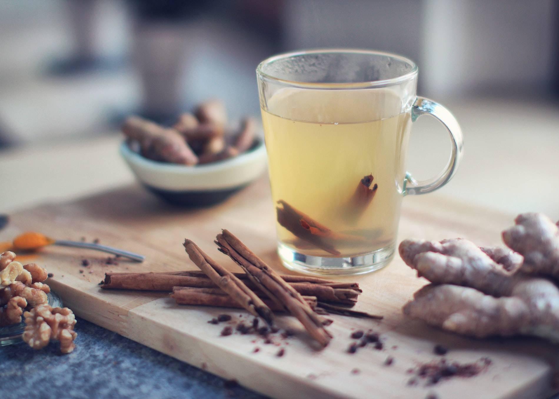 Te med ingefära, kanel och gurkmeja, Karolines way of life hälsoblogg